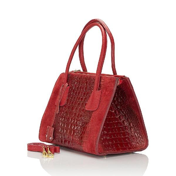 Kožená kabelka Giorgio Costa 15018 Red