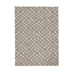 Vlnený koberec Bakero Luisa Blue/Natural, 60 x 90 cm