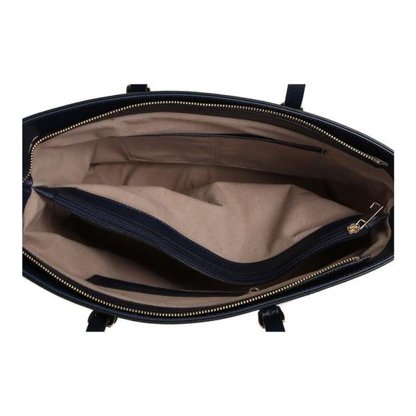 Tmavomodrá kabelka z eko kože Beverly Hills Polo Club Anne