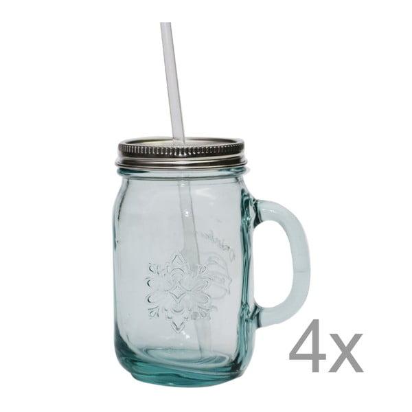 Sada 4 pohárov na limonádu Jarra, 550ml