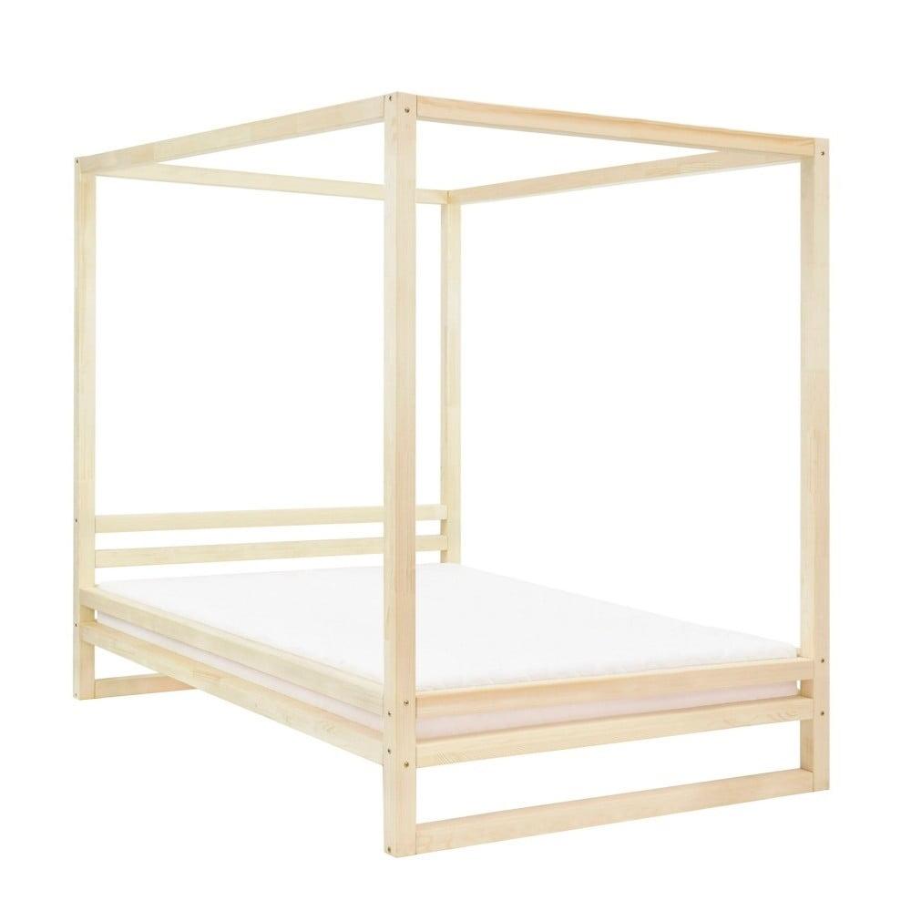 Drevená dvojlôžková posteľ Benlemi Baldee Bella Natural, 200 × 190 cm