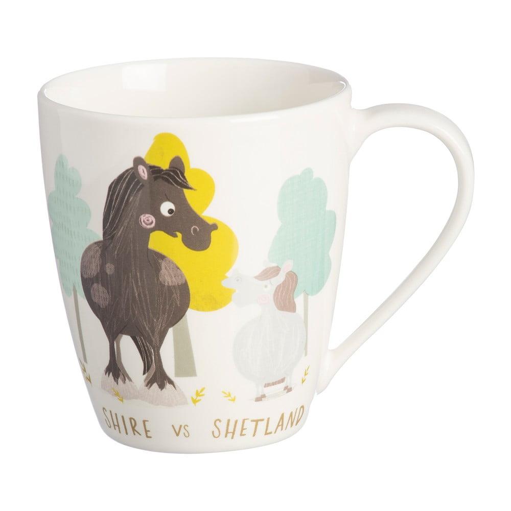 Hrnček z porcelánu s motívom koňa Price & Kensington, 350 ml