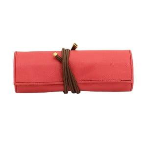 Šperkovnica Ascot Roll Coral Pink, 20x8x6 cm