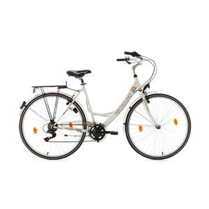Dámsky bicykel City Bike Golden Times White 53 cm, 28""