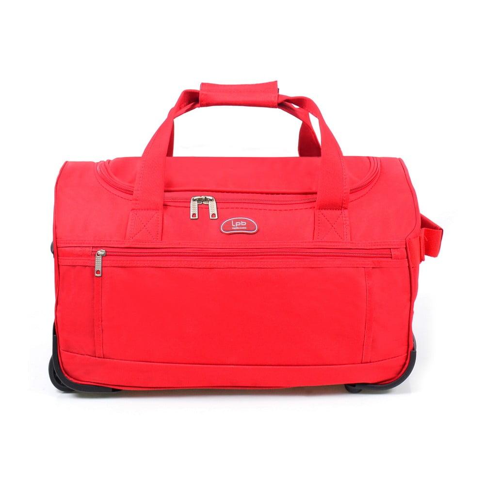 Červená cestovná taška na kolieskach LPB Morgane, 43 l
