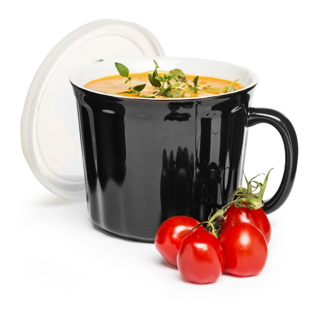 Čierny hrnček na polievku Sagaform, 500 ml