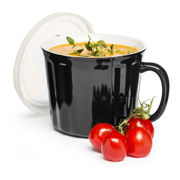 Hrnček na polievku Sagaform 500 ml, čierny