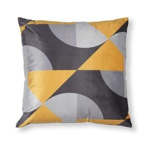 Sivo-žltá obliečka na vankúš La Forma Rise, 45 × 45 cm