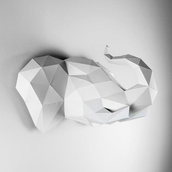 Papierová trofej Slon, biely