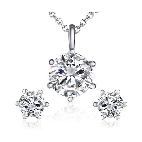 Sada náušníc a náhrdelníka Gloss Crystal