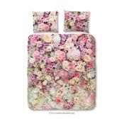Ružové bavlnené obliečky na jednolôžko Muller Textiels Explosion, 140×200 cm
