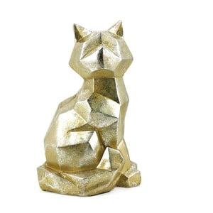 Dekoratívna soška z kameňa v zlatej farbe Moycor Geometric Cat