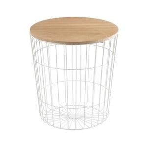Biely odkladací stolík Actona Lotus Light, Ø43 cm