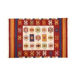 Ručne tkaný koberec Kilim Dalush 007, 90x60 cm