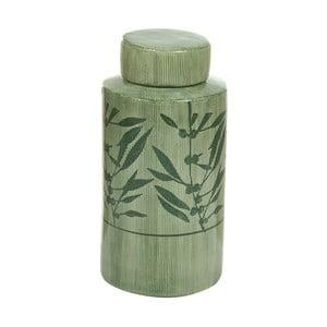Zelená kameninová váza Santiago Pons Florist, výška 25 cm