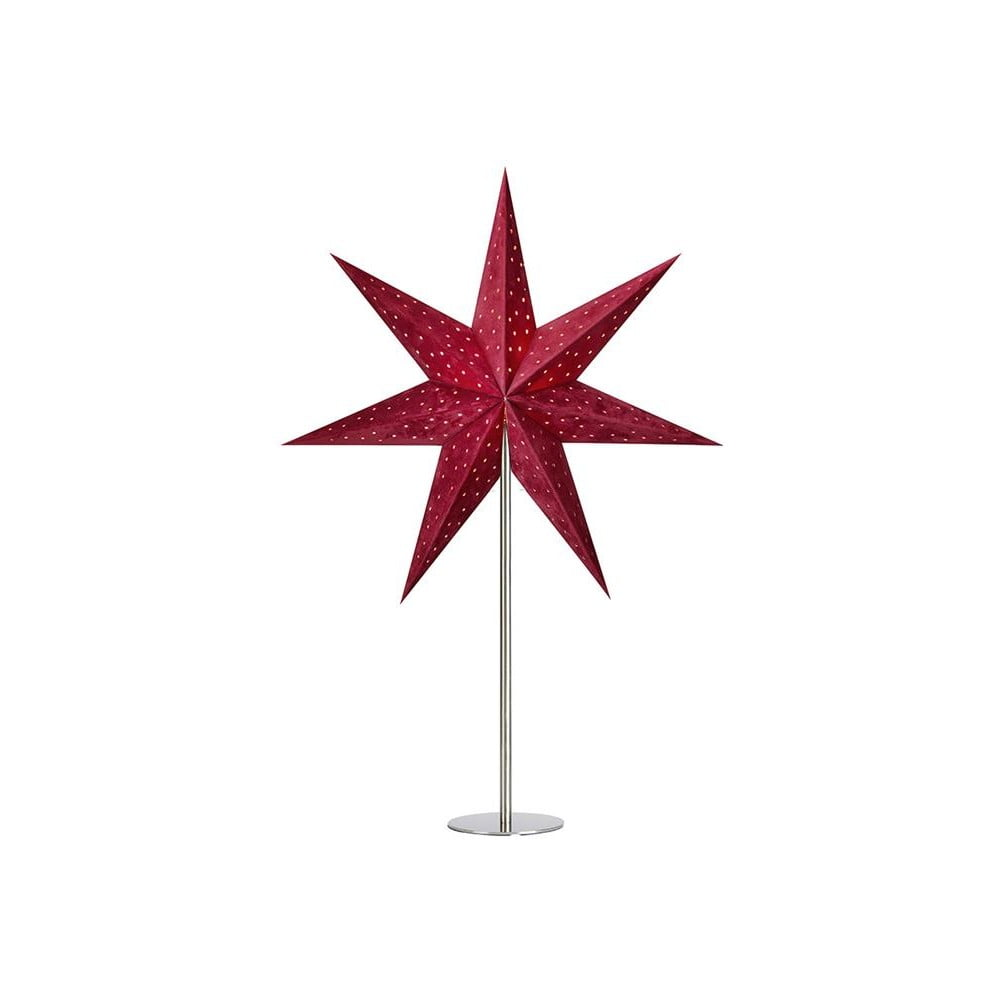Červená svetelná dekorácia Markslöjd Velours, výška 65 cm
