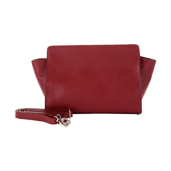 Rubínovo červená kožená kabelka Andrea Cardone 1008