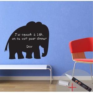Tabuľová samolepka Elephant + biela fixa