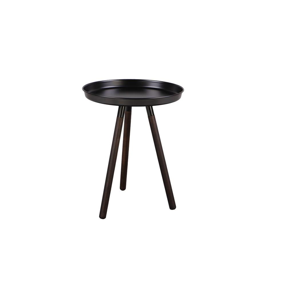 Čierny odkladací stolík Nørdifra Sticks, výška 52,5 cm