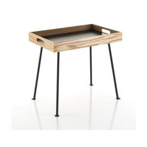 Černý konferenčný stolík s Dreveným podnosem Tomasucci Amgrogio