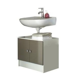 Sivohnedá kúpeľňová skrinka pod umývadlo Symbiosis André