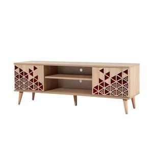 TV stôl Truva Red, šírka 140 cm