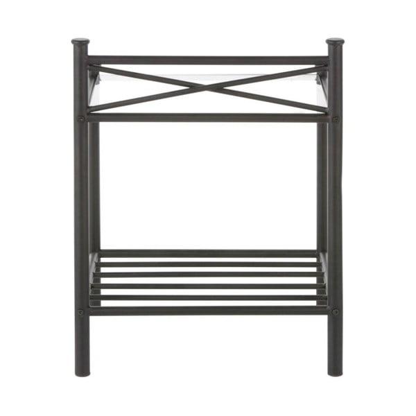 Čierny kovový nočný stolík Støraa Tanja