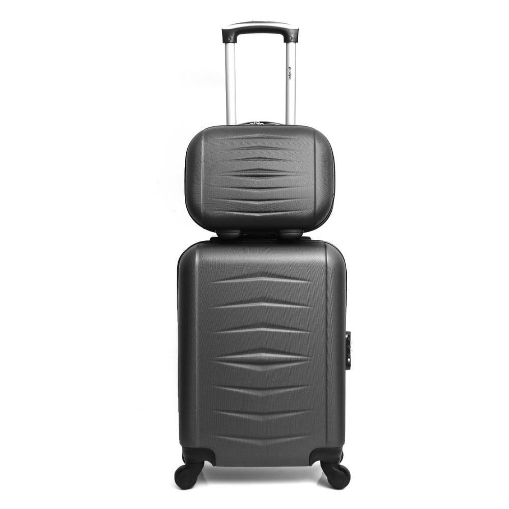 Sada 2 sivých cestovných kufrov na kolieskach Infinitif Oviedo