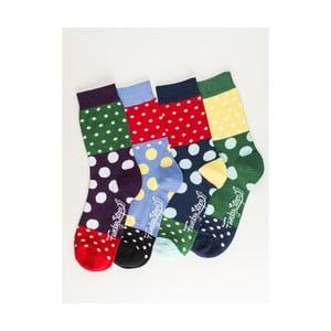 Sada 4 párov unisex ponožiek Funky Steps Inek, veľkosť 39/45
