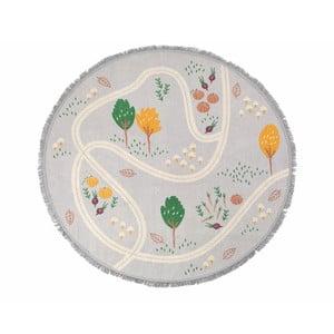 Detský ručne vyrobený koberec Nattiot Little Garden, ⌀ 120 cm