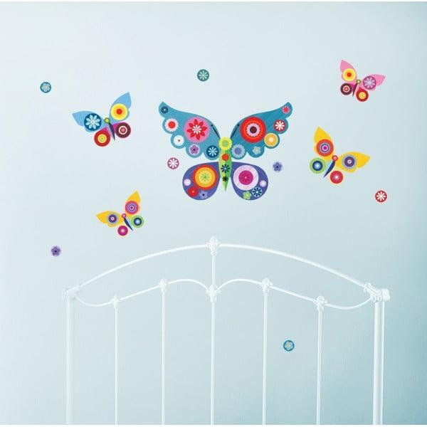 Samolepka na viac použití Blue Butterflies
