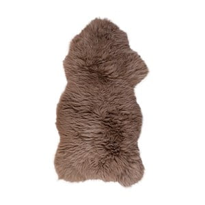 Ovčia kožušina s dlhým vlasom Taupe, 100 x 60 cm