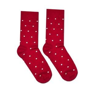 Červené bavlnené ponožky Hesty Socks Gentlemen, vel. 43-46