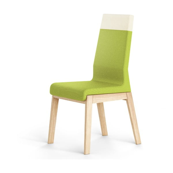 Zelená stolička z dubového dreva Absynth Kyla Two