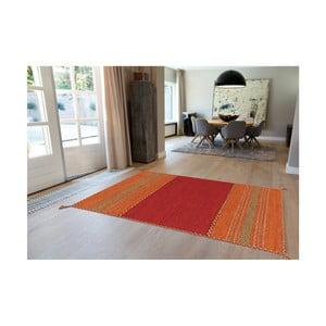 Červený ručne vyrábaný bavlnený koberec Arte Espina Navarro 2920, 80 × 150 cm