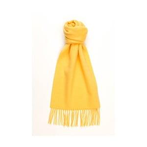 Žltý kašmírový šál Hogarth, 180×25 cm