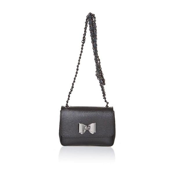 Kožená kabelka Bow Black