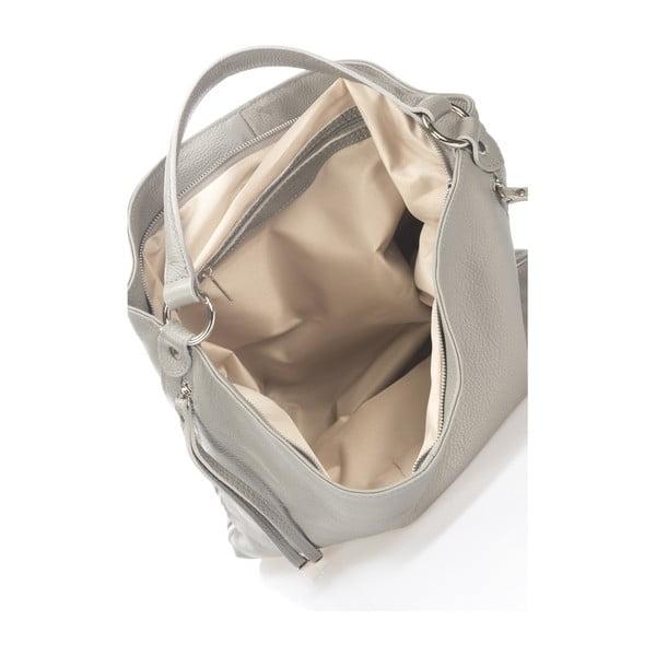 Sivá kožená kabelka Krole Karla