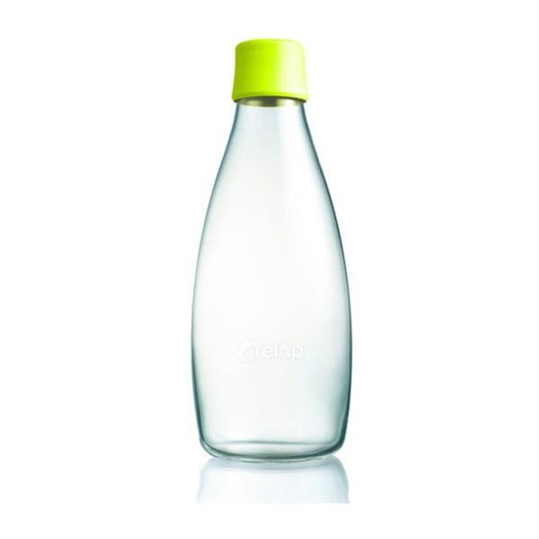 Citrónovožltá sklenená fľaša ReTap s doživotnou zárukou, 800ml