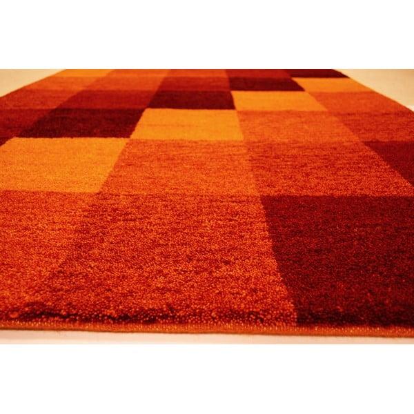 Vlnený koberec Baku Box Red, 70x140 cm