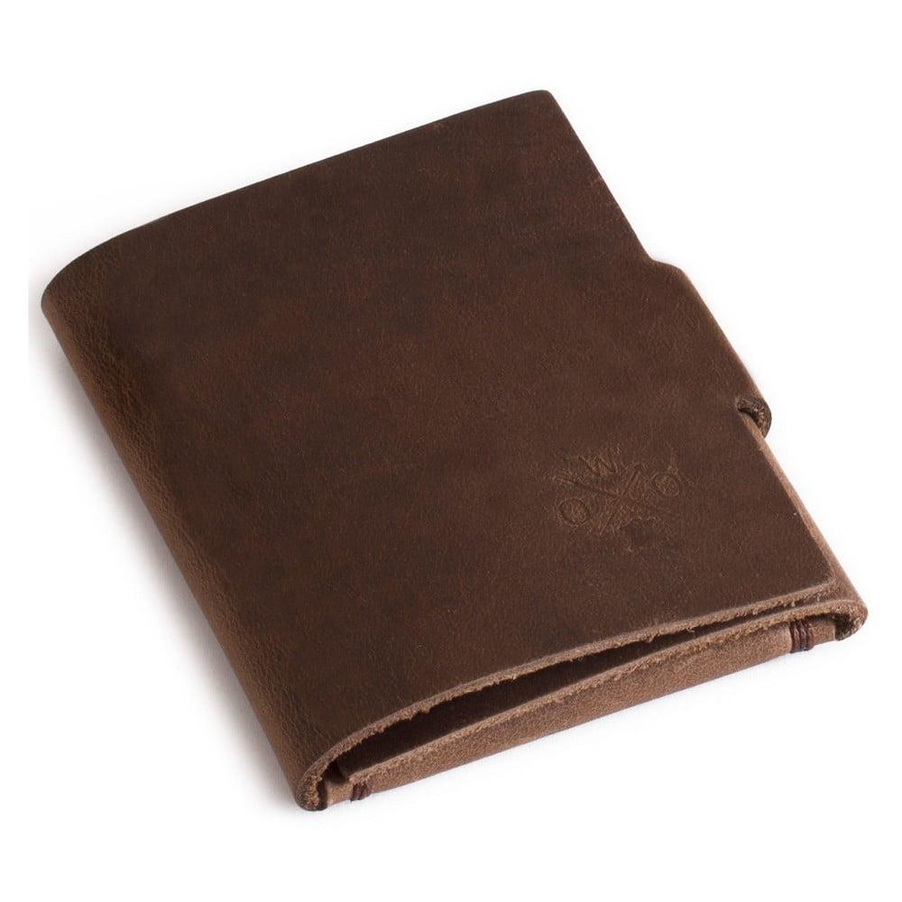Hnedá kožená peňaženka Woox Medius Fuscus