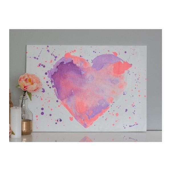 Obraz Lavender Heart, 50x70 cm