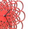 Drevené hodiny Rings červené, 29 cm