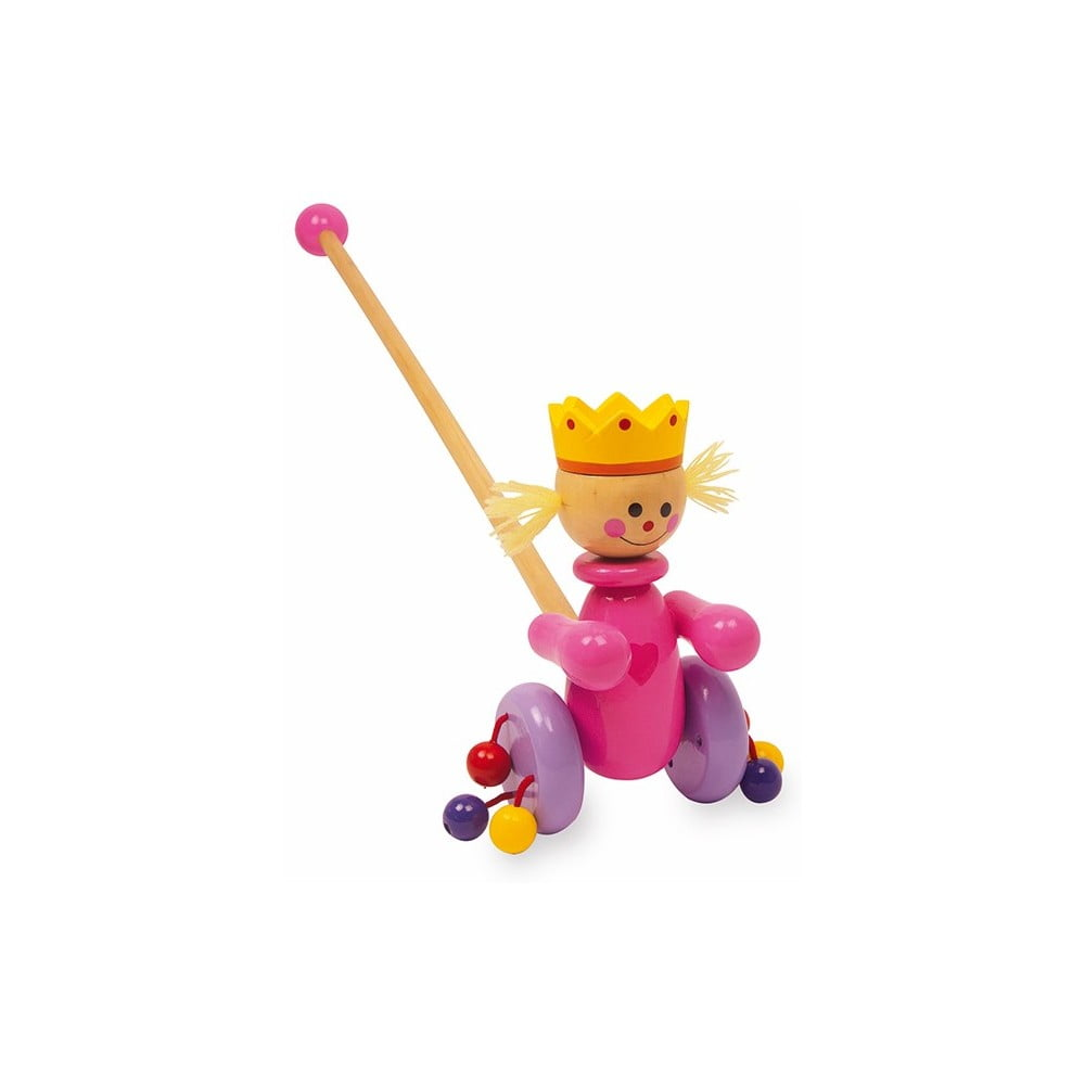 Drevená ťahacia hračka Legler Queen