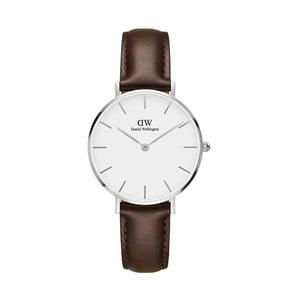 Dámske hodinky s hnedým remienkom Daniel Wellington Bristol, ⌀32 mm