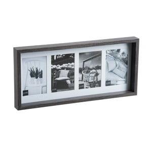 Fotorám na 4 fotky Black Frame, 22x47 cm