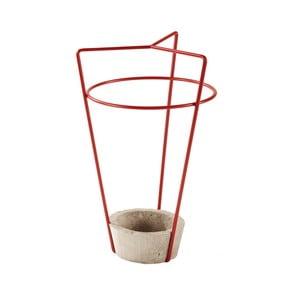 Červený stojan na dáždniky s betónovou základňou MEME Design Ambrogio
