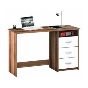 Hnedo-biely pracovný stôl  Aristote