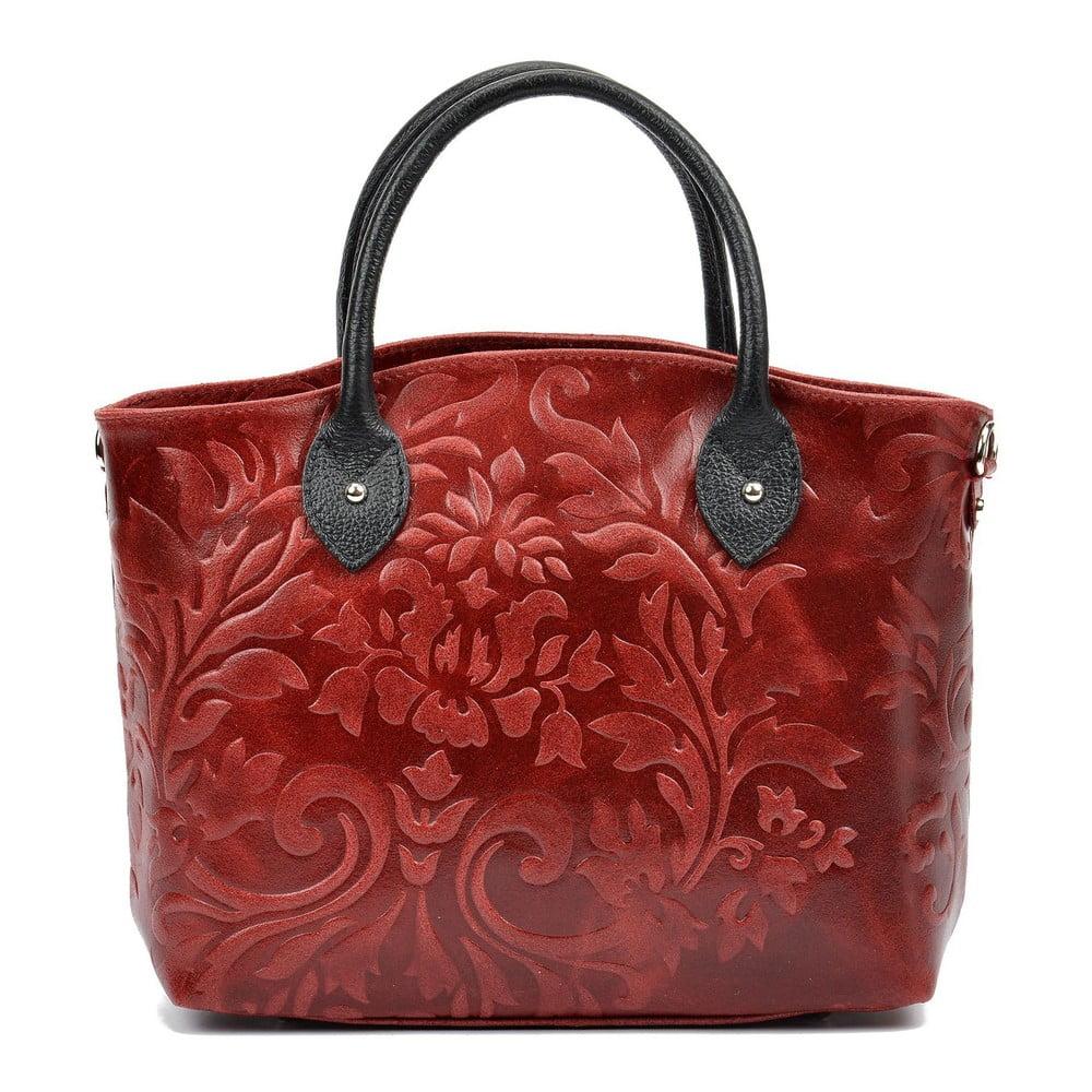 Červená dámska kožená kabelka Renata Corsi Noemi