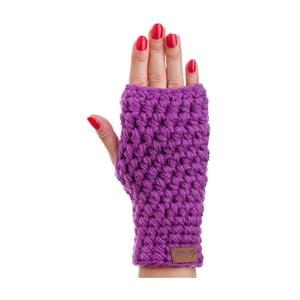 Fialové ručne háčkované návleky DOKE Violet